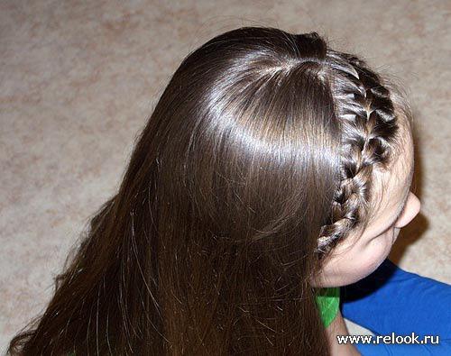 Легкая вечерняя прическа на средние волосы своими