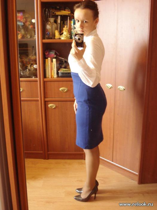 Оджи юбка синяя