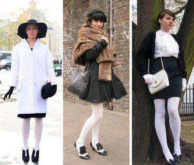 Фото девушек в плотных белых колготках фото 278-992