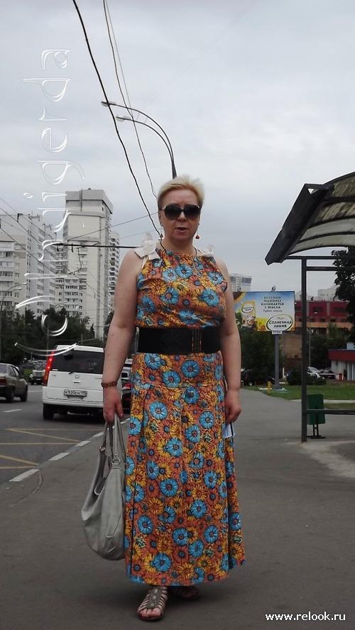 Платья из ситца в пол фото