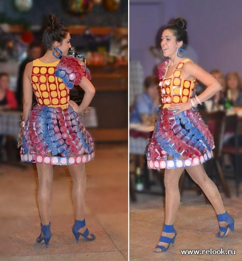 Платья из нетрадиционных материалов фото своими руками
