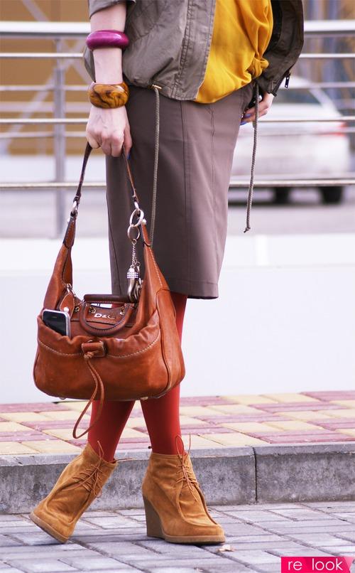 Tommy Hilfiger.  Одежда: парка. ботинки Bata, блуза. шляпа-сафари Stefanel, колье. сумка D&G. Max&Co. H&M...