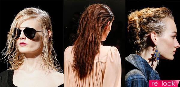 Прически мокрый эффект модные