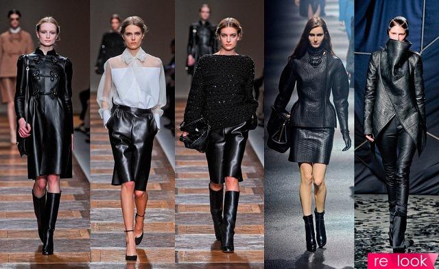 Модная коллекция кожаных