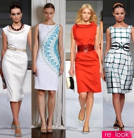 Модели платья футляра