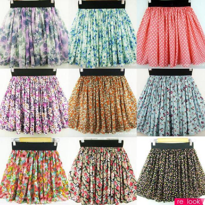 Цветастые юбки для лета