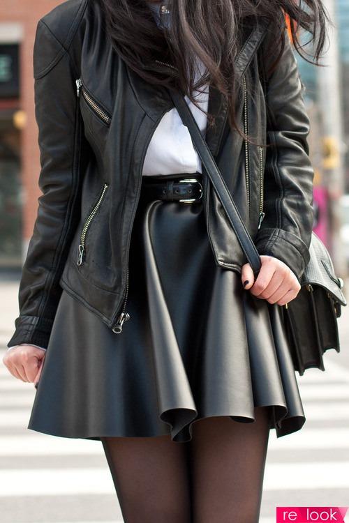 Пышные юбки из кожи