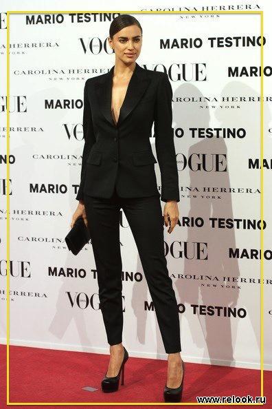 черный женский брючный костюм фото