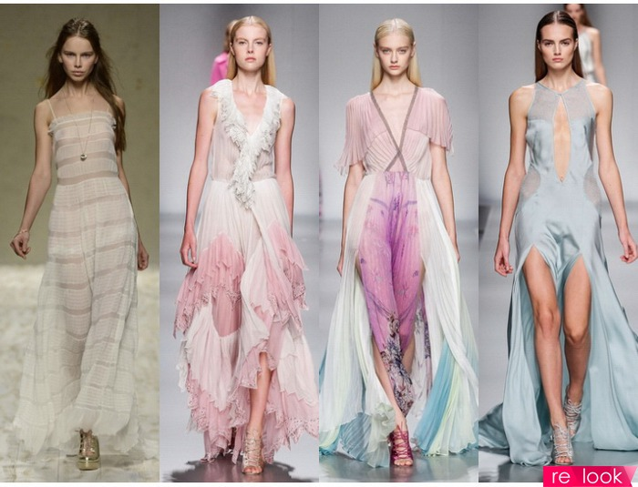 Модные легкое платье