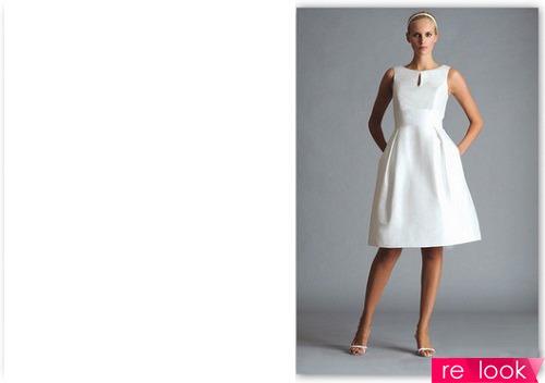 Белое платье в стиле 60-х