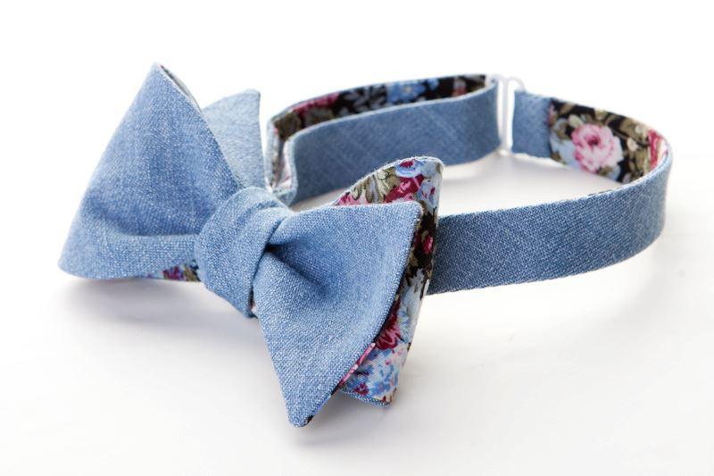 Как сшить бабочку из джинсовой ткани 51