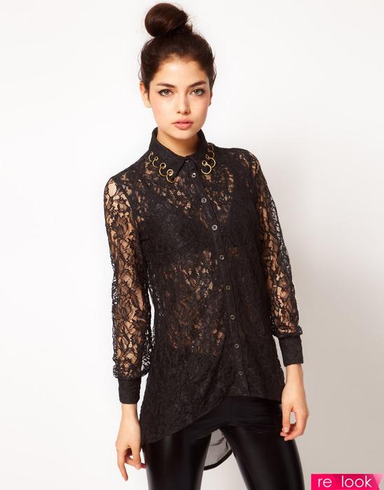 с чем носить гипюровую блузку