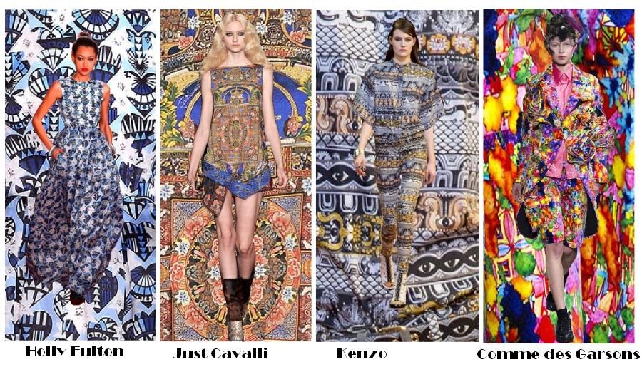 Модные цвета рисунки принты