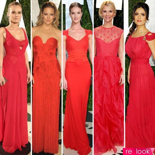 Причёска под красное длинное платье