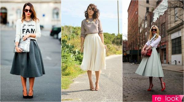 Свитшот и пышная юбка