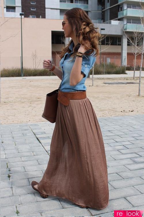Красивые юбки в пол фото