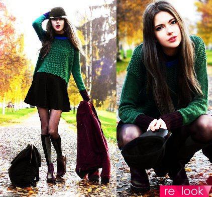Пуловер с юбкой фото