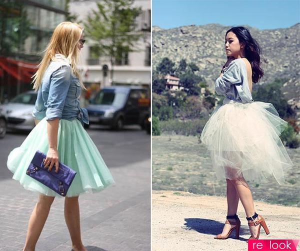 Пушистые юбки с чем носить