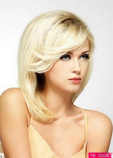 прически блондинки с челкой