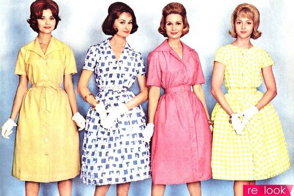 модные платья и прически 60-х годов фото