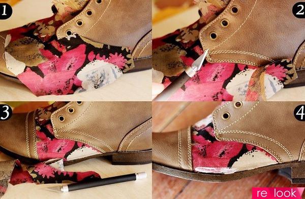 украсить обувь своими руками