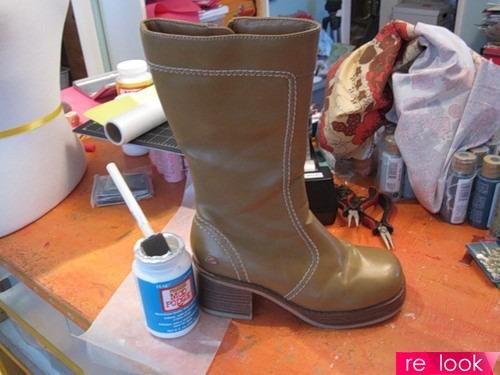 Как обновить старую обувь мастер класс