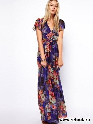 Платье в пол хиппи