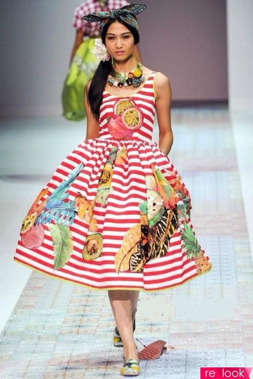 Платье с фруктами