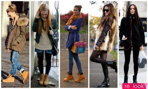 Ботинки зимние с юбкой