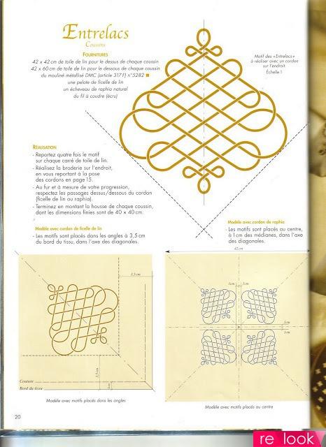 Схемы для люневильской вышивки