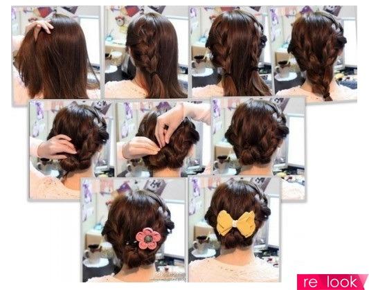 Как сделать причёску легкую на средние волосы