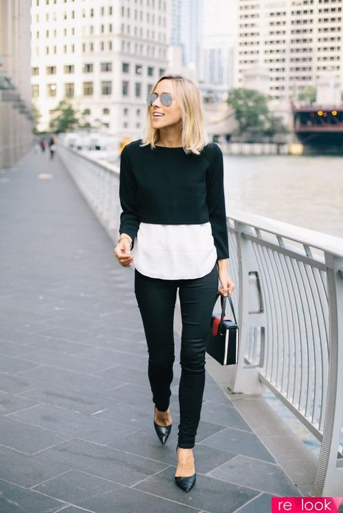 Короткий свитер с платьем