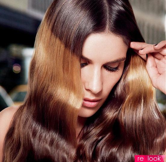 Как сделать блики на волосах на фото
