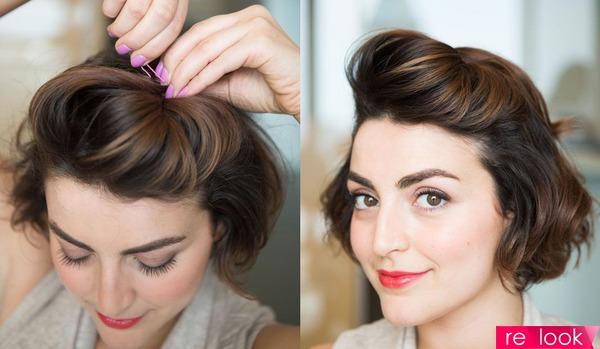 Быстрая прическа на короткие волосы в домашних условиях