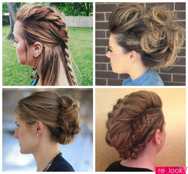 как сделать ирокез на длинные волосы