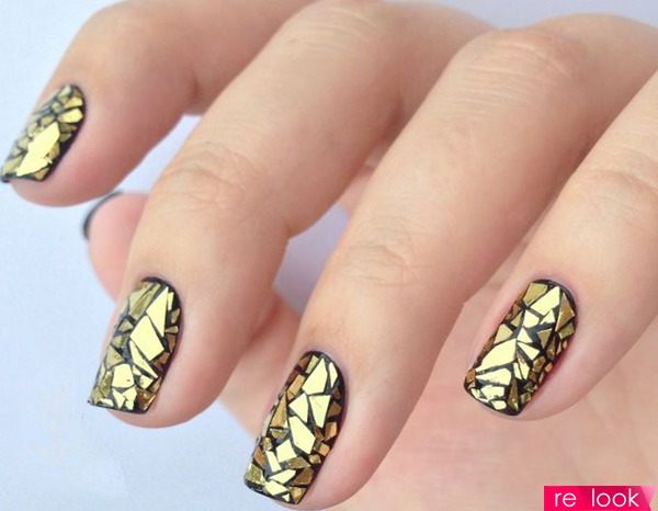 Фото ногтей с эффектом битого стекла
