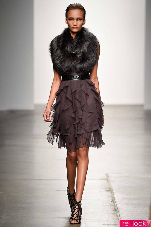 Платье с мехом 2016
