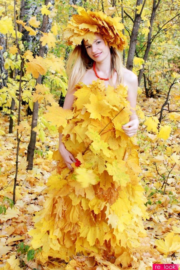 Костюм из листьев своими руками 734