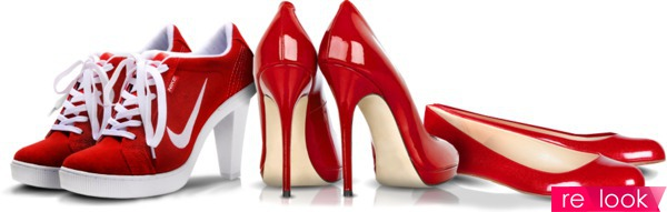 как носить красные туфли