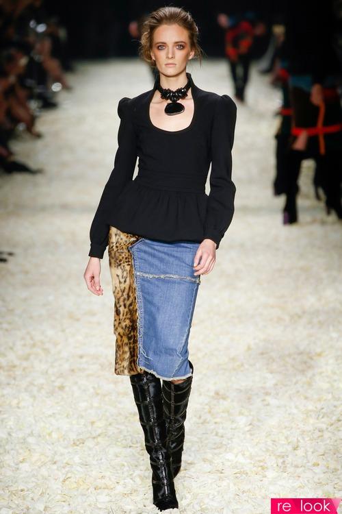 Модели юбок комбинированные