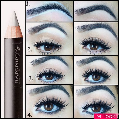 Макияж глаз с помощью карандаша для глаз