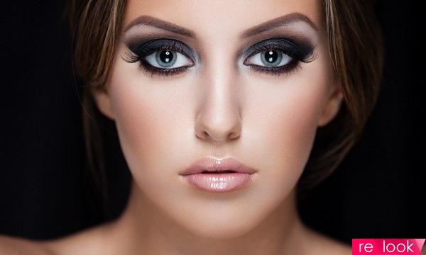 Красивое с красивым макияжем глаз