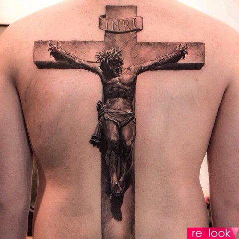 Распятие христа тату
