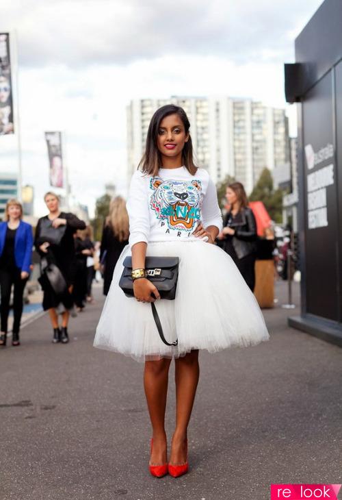Платье с пачкой с чем носить