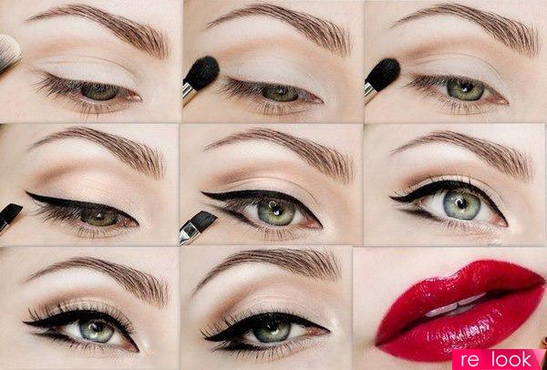 Как сделать красно макияж для глаз