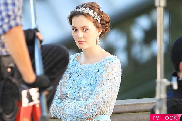 Прическа блэр на свадьбе