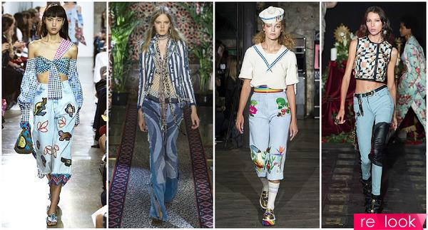 Мода Джинсы Весна 2017