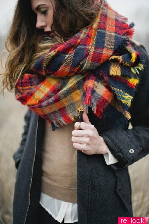 завязать шарф на куртке