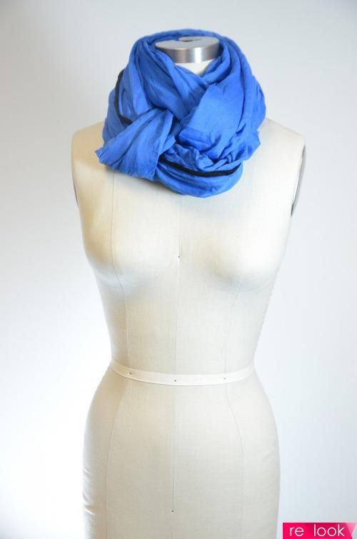 завязать шарф на пальто