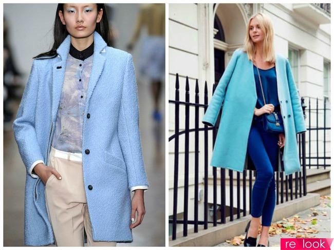 голубое пальто